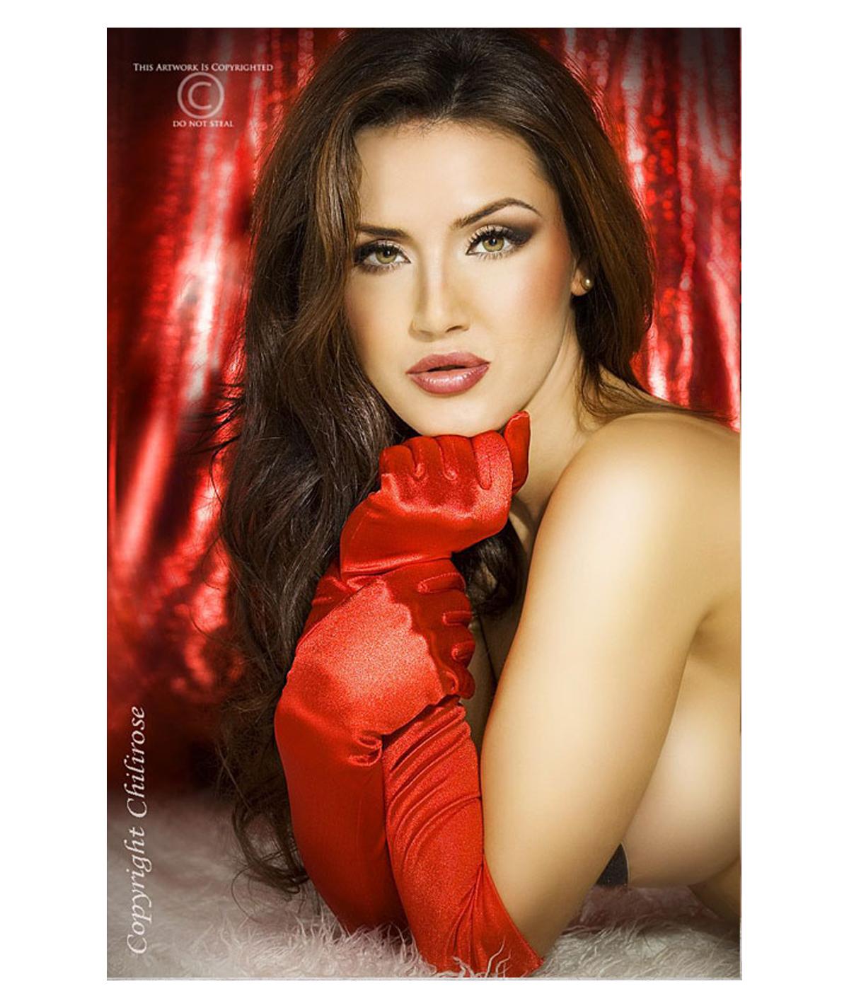Rode satijnen handschoenen...